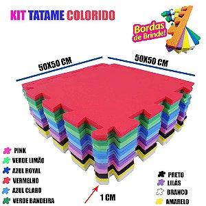 Tapetinho de Eva Tatames Colorido 20 Placas 50x50 10mm