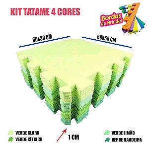 Tapete de EVA 20 Placas Floresta 50x50 10mm