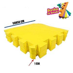 Tatames EVA 10 Placas Amarelo 50x50x01 cm