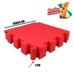 Tatames EVA 10 Placas Vermelho 50x50x01 cm