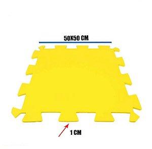 Tatame de EVA Amarelo 1 Un 50x50x01 cm