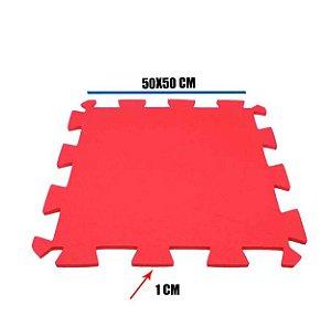 Tatame de EVA Vermelho 1 Un 50x50x01 cm