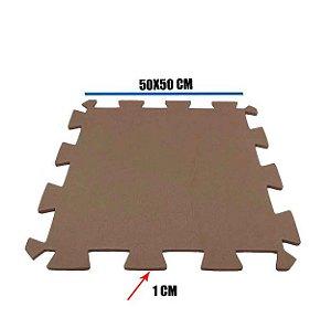 Tatame de EVA Marrom 1 Un 50x50x01 cm