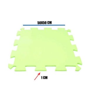 Tatame de EVA Verde Claro 1 Un 50x50x01 cm