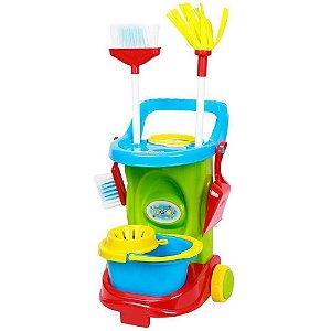Carrinho de Limpeza Cleaning Trolley Colorido Maral