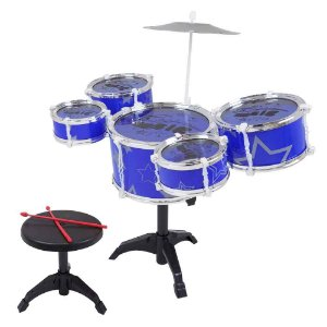 Bateria Musical Pequena Azul Fênix