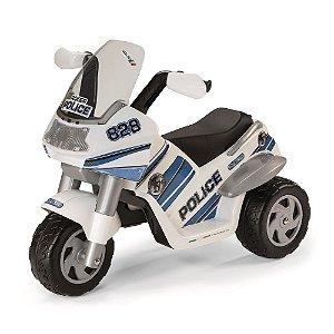 Moto Elétrica 6V Raider Policial Peg-Perégo