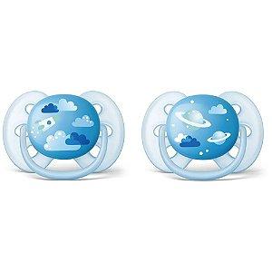 Chupetas Ultra Soft 2 unidades Com Desenho 6-18m Avent