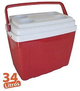 Caixa Térmica 34L Vermelha Antares