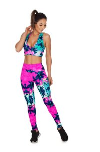 Legging Supplex Poliamida 280G Estampada LE1003