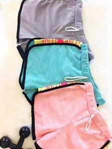 Kit com 2 Bermuda Feminina Casual de Moletinho - Cores Variadas -Vale como 1 Produto do Seu Limite