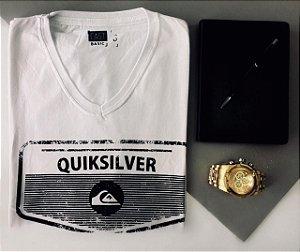 Kit com 2 Camisetas Masculina Marcas Variadas - Preta, Branca e Cinza - Várias Estampas Vale como 1 Produto do Seu Limite-