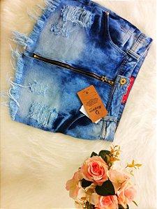 Saia Jeans com Zíper