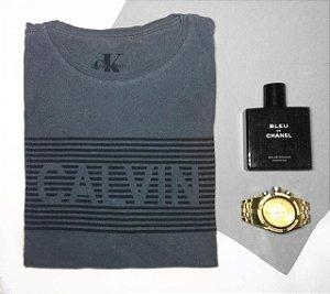 Kit com 2 Camisetas Masculina de Marca Fio 30