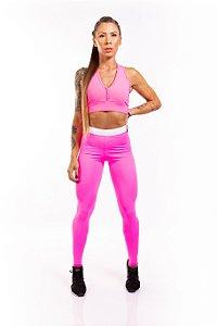 LEGGING EM SUPPLEX POLIAMIDA elastic pink GRAMATURA 280G LE**1054