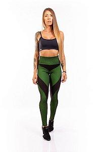 LEGGING EM SUPPLEX POLIAMIDA Montaria Web Green & Black GRAMATURA 280G LEm**10**10