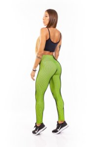 LEGGING EM SUPPLEX POLIAMIDA Illuzione Neon Green GRAMATURA 280G LE**1038