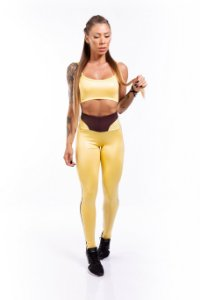LEGGING CIRRÊ yellow & brown GRAMATURA 280G LE**1073
