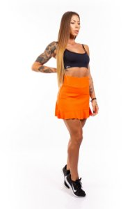 Short-Saia EM SUPPLEX POLIAMIDA Orange GRAMATURA 280G SS**1060