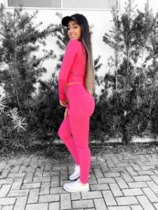 Legging DE POLIAMIDA rosa pink MESCLA GRAMATURA 280 LE1095