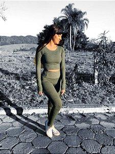 CROPPED DE POLIAMIDA MESCLA AMAZÔNIA GRAMATURA 280 CR1097
