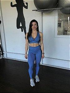 Legging Illuzione Azul Clarinho Poliamida LE1101 ou le1084
