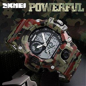 Relógio Militar com Camuflagem
