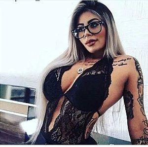 Body de Renda  Aberto nas Costas - Tamanho Único