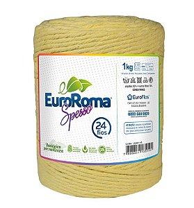 EuroRoma Spesso 24 Fios 1Kg - Amarelo Bebê