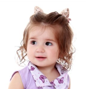 Laço infantil orelhinha paetê
