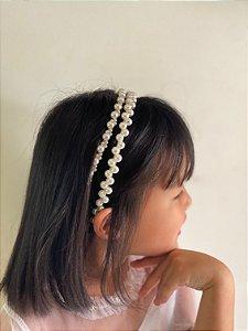 Tiara de cabelo pérolas