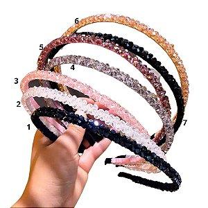 Tiara de cabelo cristais
