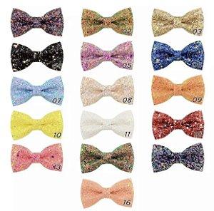 Laço infantil brilhoso gravata