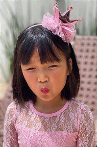 Tiara de cabelo princesa tule