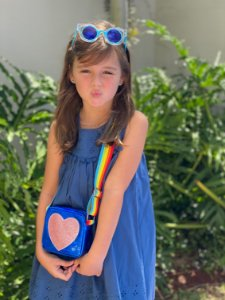 Bolsa infantil corações