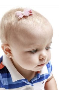 Laço infantil Borboleta voal