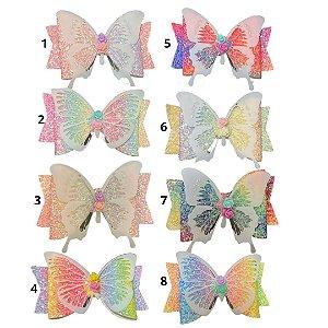 Laço infantil borboleta vinil