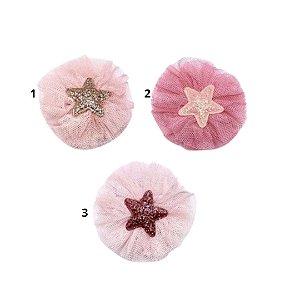 Laço infantil estrela rosa
