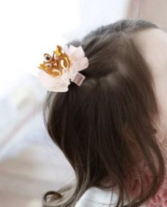 Laço infantil coroa brilho