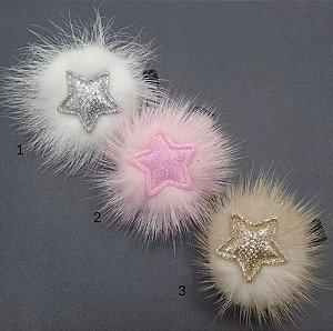 Laço infantil estrela pluma