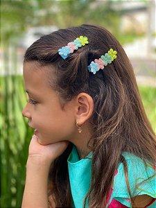 Laço infantil brilho estrelas e flores