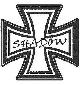 Cruz de Malta - Moto Shadow - Frases para colete