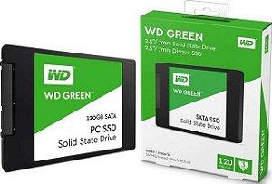 HD SSD 120gb WD Green 540mb/s Sata 3 2,5