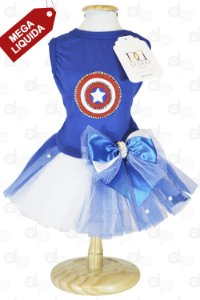 Vestido Capitão América