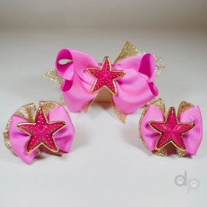 Laço Estrela Pink