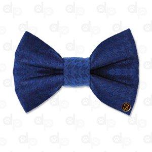 Laço Veludo Azul