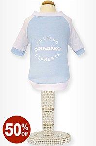 Camiseta Mamãe Ciumenta Azul