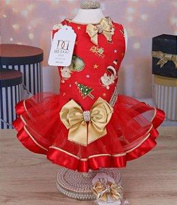 Vestido Natal Tule
