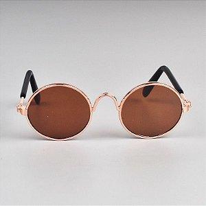 Óculos Redondo Bronze