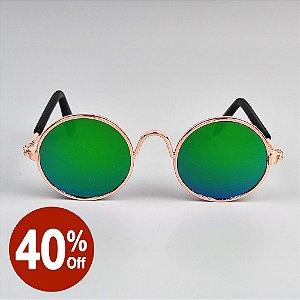 Óculos Redondo Verde